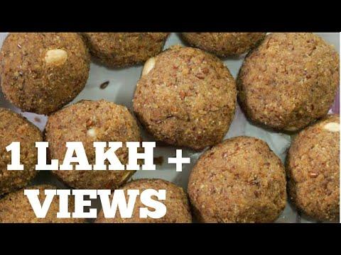 Alsi Di Pinni Recipe   Alsi de laddu Punjabi Fast Food