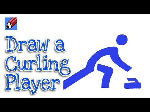 How to Draw an Olympic Curler Pictogram Real Easy