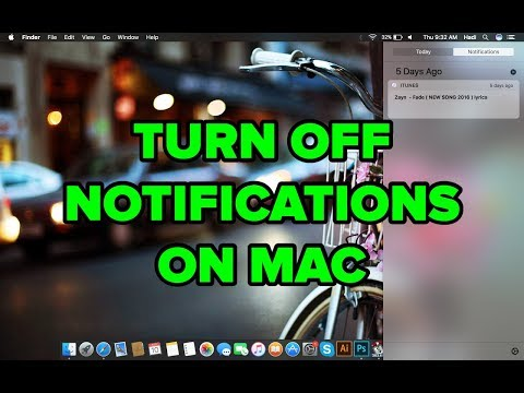 Turning off Notifications on Mac 2017