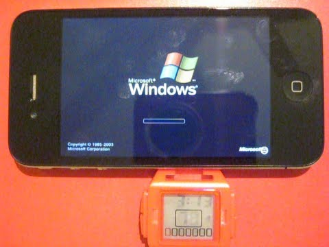 Windows XP Running in iPhone on Bochs. Note! This Video Is 9 Min. Long And Quite Tedious.