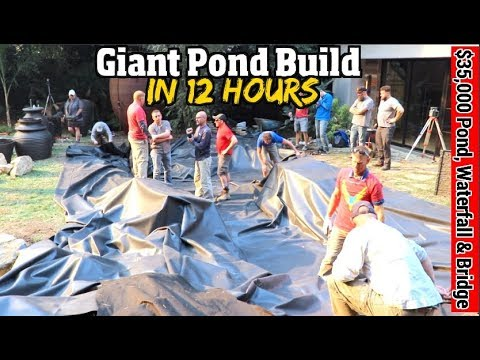 Giant Pond, Waterfall, Stream & Bridge-in just 12 hours ?!?  It can be done.