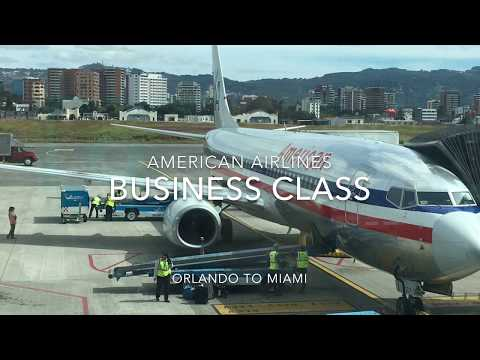 American Airlines  / 737-800 / Business Class / Orlando to Miami / Trip Report