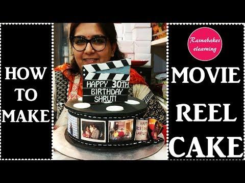 How to make Movie Reel Cake: Decorating tutorial