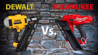 The Best Two Cordless Framing Nailers Go Head To Head - Milwaukee M18 Fuel Vs. Dewalt 20V Max Nailer