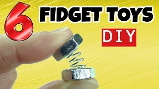 Download NEW! 6 AWESOME DIY FIDGET TOYS - EASY DIYS- FIDGET TOYS FOR KIDS TO MAKE USING STUFF IN YOUR HOUSE Video