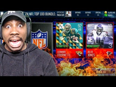 90+ OVR ELITE GUARANTEED IN TOP 100 PACK OPENING! Madden Mobile 18 Gameplay Ep. 13