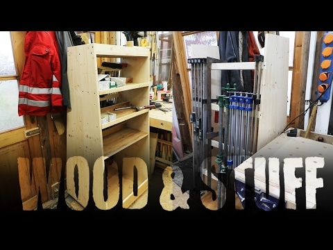 Building a mobile clamp rack and tool storage