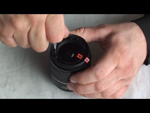How to clean dust from the inside of your DSLR canon camera kit lens