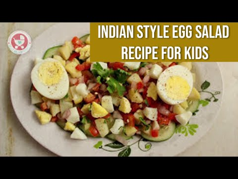 Indian Style Egg Salad Recipe for Kids | Easy 2 min Recipe