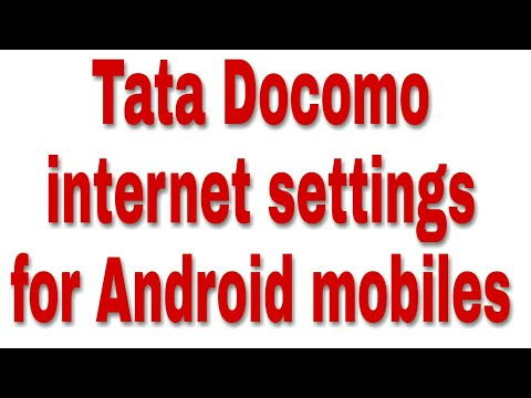 TATA Docomo 2G 3G 4G internet settings for xiaomi redmi note 4 and all android mobiles