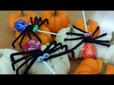 How to make  Spider Lollipops Halloween DIY