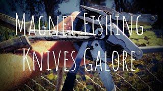 Magnet Fishing Knives Galore