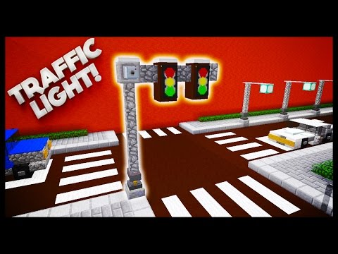 Minecraft - How To Make A Traffic Light
