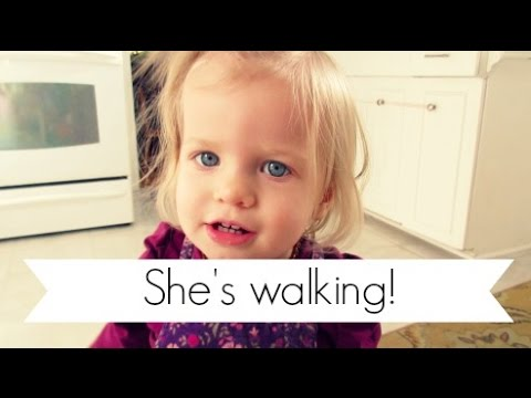 Toddler First Steps   17 Months Old   Walking Milestone