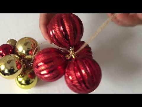 DIY Christmas grape decor