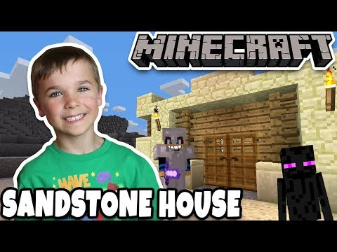BUILDING SANDSTONE SAFEHOUSE in MINECRAFT SURVIVAL MODE