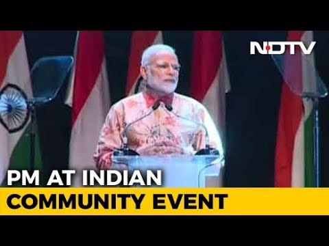 PM Modi Addresses Indian Community In Indonesia