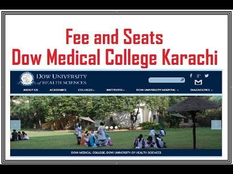 Seats and Fee at Dow Medical College Karachi