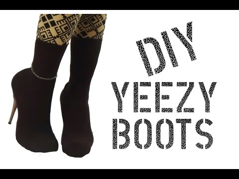 DIY How to Make Yeezy Sock Boots