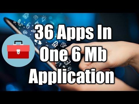 Ek application aapko 6 mb me de rahi hai 36 applications same size me amazing app of 2017