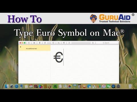 How to Type Euro Symbol on Mac® - GuruAid
