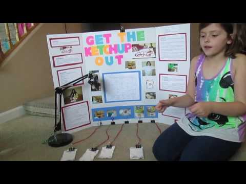 Ketchup Stain Removal HOW TO REMOVE Science Fair Project KOOL AID SODA JUICE GRASS DIRT first place