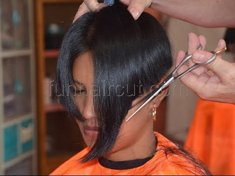 Barbershop girl short hair cut