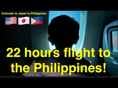 22 hours flight to the Philippines! Colorado to Manila! //Sanchez Fun