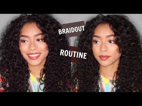 PERFECT BRAIDOUT ROUTINE | CURLY HAIR TUTORIAL | KiaraConsuelo
