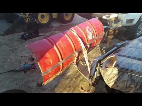 55 gallon drum snow plow build part 1