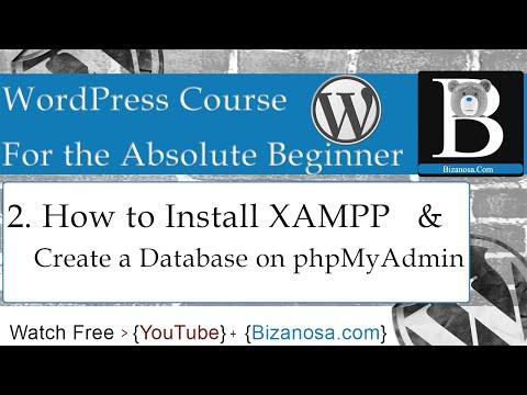 2. How to install xampp and create  database phpmyadmin - Bizanosa.com