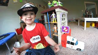 Father & Son Get Best Toy Ever! / Ghostbusters Firehouse!