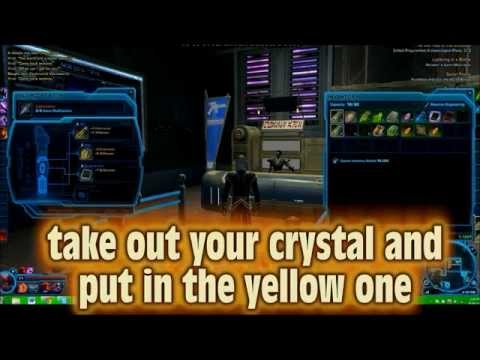 How to get a Yellow Lightsaber Crystal in SWTOR. [VERY EASY]