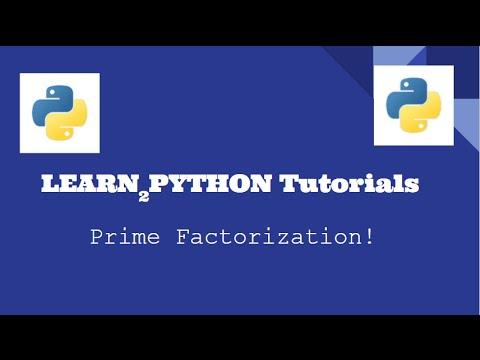 Prime Factorization Script (Python Project #0)