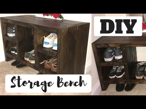DIY Shoe Storage/ Bench