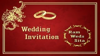 how to create a wedding invitation card front page in photoshop