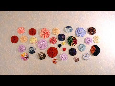 Fabric Yo-Yos and Suffolk Puffs - How to Make Round and Square Yo-Yos