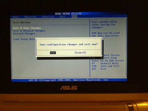 Selecting boot device on the Eee PC 701