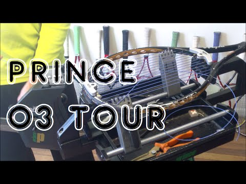 How to String a Tennis Racquet: Full String Job - Prince Neos - Prince O3 Tour 16x18