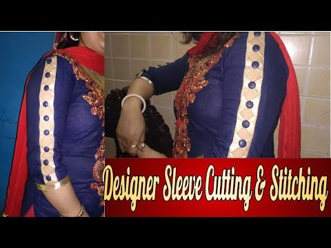 Designer sleeve cutting and stitching very easy method