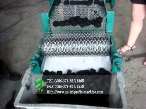 Shisha charcoal briquette press