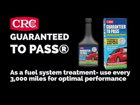 CRC GUARANTEED TO PASS Emissions Test Formula & Complete Fuel System Cleaner