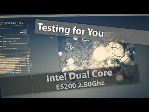 Intel Dual Core E5200 Test in Cinebench R15