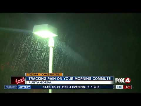 Rainy weather affecting the morning commute in Southwest Florida - 6am live report