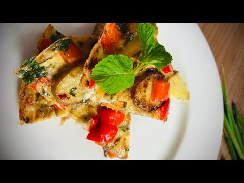 How to make Minted Potato and Red Pepper Frittata