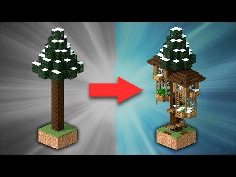 How to Build a Spruce Treehouse | Minecraft