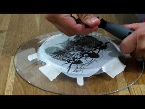 how to engrave on glass using dremel diamond bit