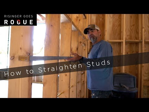 Framing Tip - How to Straighten Studs