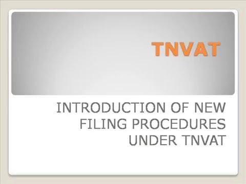TNVAT New Filing Procedures