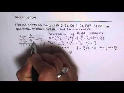 Coordinate Geometry Find Circumcentre of Triangle